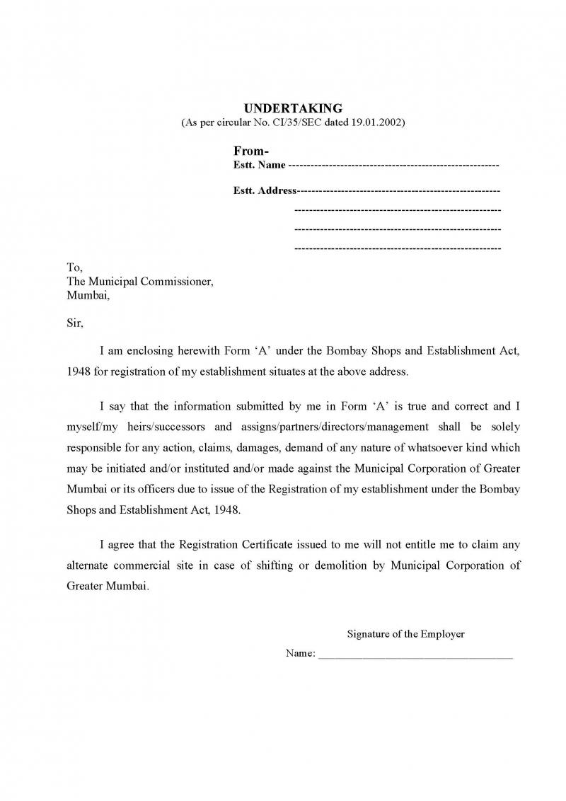 application letter for gumasta license